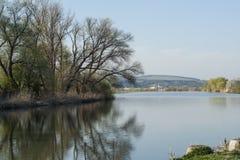 Mures-Flussbank Stockbild