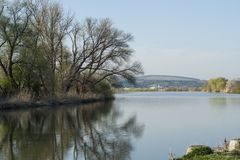 Mures river bank Stock Image
