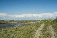 Mures rzeki krajobraz Zdjęcia Stock