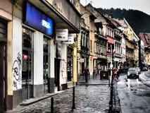 Muresenilor street in Brasov, Romania royalty free stock images
