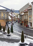 Muresenilor Street Brasov, Transylvania Royalty Free Stock Photos