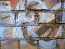 Murez avec le graffiti 1 photo stock