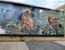 Murez la peinture murale d'art dans Ellum profond, Dallas, le Texas photographie stock