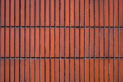 Murez la texture brune orange de mur de tuiles pour le fond Images stock