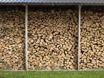Murez le bois de chauffage, identifiez-vous coupés secs de bois de chauffage les FO préparées par pile images libres de droits