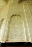 Murez le fininsh avec le modèle géométrique à Sultan Ismail Airport Mosque - l'aéroport de Senai Image stock