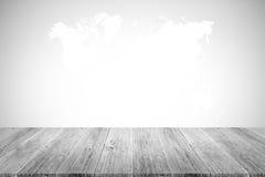 Murez le fond de texture, processus dans la couleur blanche avec le terra en bois Photographie stock