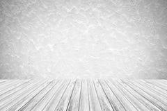 Murez le fond de texture, processus dans la couleur blanche avec le terra en bois Photographie stock libre de droits