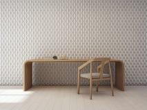 Murez le modèle de décoration dans le siège intérieur et social blanc moderne illustration de vecteur