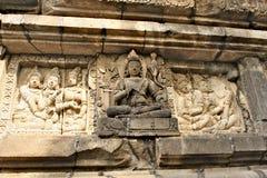 Murez le soulagement dans le temple de Prambanan - temple hindou du 9ème siècle Photos libres de droits