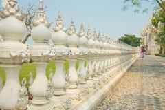 Murez les décorations conceptuelles de sculpture dans le temple Chiangrai, Thaïlande de Rongkhun image stock