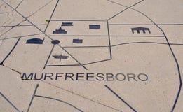 Murfreesboro Tennessee Landmarks i sten royaltyfria bilder