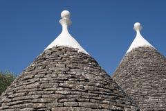 Murge (Apulia, Italië) - Trulli stock afbeelding