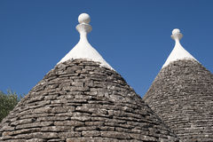 Murge (Apulia, Italien) - Trulli Stockbild