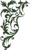 Murgröna för retro prydnad för vektor wispy flätad vektor illustrationer