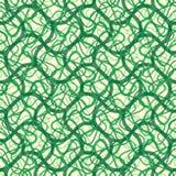Murgrönavinrankavektor i en sömlös tapetmodell, krökta linjer bakgrund royaltyfri illustrationer