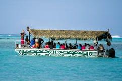 Muri盐水湖在拉罗通加库克群岛 库存图片