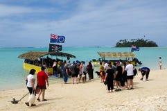 Muri盐水湖在拉罗通加库克群岛 免版税库存照片