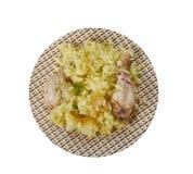 Bengali Muri Ghonto. Muri Ghonto, popular dish Bengali cuisine, Asia Traditional assorted dishes, Top view Stock Photography