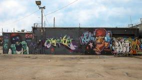 Muri il murale di arte in Ellum profondo, Dallas, il Texas fotografie stock libere da diritti