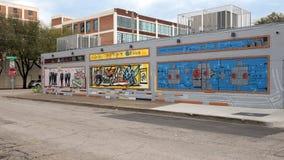 Muri il murale di arte in Ellum profondo, Dallas, il Texas Fotografie Stock