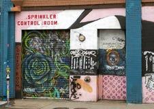 Muri il murale di arte in Ellum profondo, Dallas, il Texas immagine stock libera da diritti