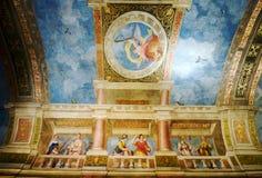 Muri la pittura della sala da ballo nel castello di Hellbrunn fotografia stock libera da diritti