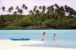 Muri Lagoon in Rarotonga Cook Islands Royalty Free Stock Image