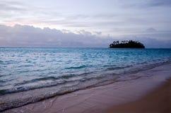 Muri lagun i den Rarotonga kocken Islands Arkivbild