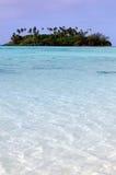 Muri lagun i den Rarotonga kocken Islands Arkivfoton
