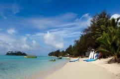 Muri lagun i Rarotonga, kock Islands Arkivfoton