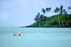 Muri-Lagune in Rarotonga-Koch Islands Stockbild