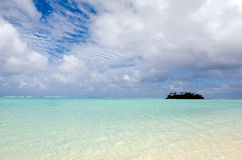 Muri-Lagune in Rarotonga-Koch Islands Stockbild