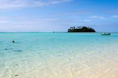 Muri-Lagune in Rarotonga-Koch Islands Lizenzfreie Stockbilder