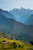 Muri, pueblo tradicional del nepali, en las montañas de Himalaya Imagen de archivo