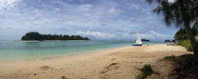 Muri Rarotonga, kock Islands Panorama Royaltyfria Bilder