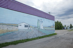 Murial painted on a building, Alberta Stock Image