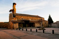 MURIAS DE RECHIVALDO, SPAIN - SAN ESTEBAN stock photography
