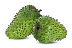 Muricata Annona oursop bär frukt Sugar Apple, det isolerade ustardäpplet arkivbilder