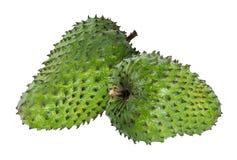 Muricata Annona oursop bär frukt Sugar Apple, det isolerade ustardäpplet royaltyfri foto