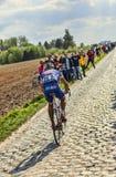 Murilo Antonio Fischer- Paris Roubaix 2014. Carrefour de l'Arbre,France-April 13,2014:The Brazilian cyclist Murilo Antonio Fischer from FDJ.fr Team  riding on Stock Photos