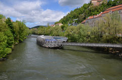 Murinsel, Graz Photos stock