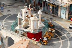 Muristan广场和喷泉,耶路撒冷 免版税库存图片