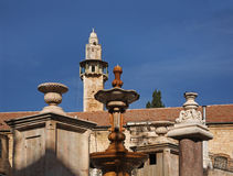Muristan广场,苏格Aftimos在耶路撒冷 以色列 免版税库存照片