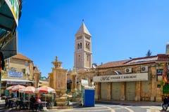 Muristan-Komplex, die alte Stadt von Jerusalem Stockfotos