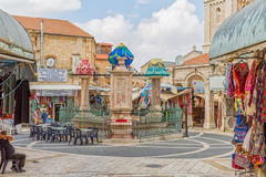 Muristan market square Jerusalem Royalty Free Stock Photo