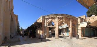 Muristan Souq入口,基督徒处所 图库摄影