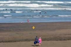Muriwai海滩 图库摄影