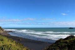 Muriwai beach. The largest gannet habitat near Auckland,  wonderful vacation spot for Kiwi Stock Images
