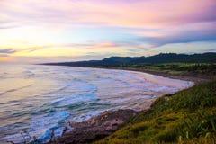 Muriwai beach. The largest gannet habitat near Auckland,  wonderful vacation spot for Kiwi Stock Photos
